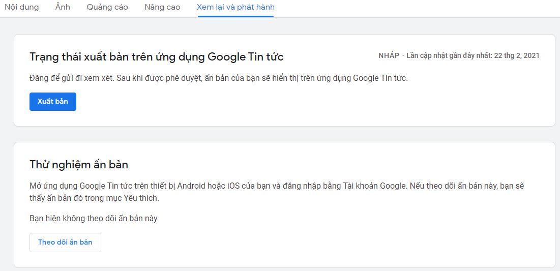 Chờ google news xác nhận